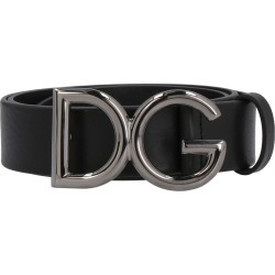 Dolce & Gabbana Leather Belt With Logoed Buckle found on Bargain Bro UK from Italist