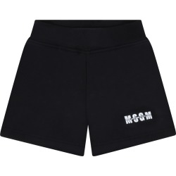 MSGM Black Short For Babykids With Logo found on Bargain Bro Philippines from italist.com us for $83.68