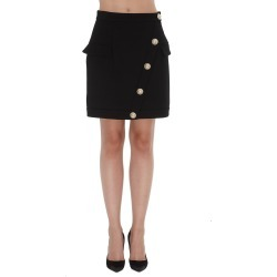Balmain Wool Skirt With Short Wrap Effect found on Bargain Bro Philippines from italist.com us for $807.73