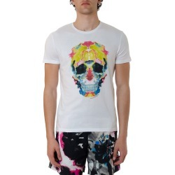 Alexander McQueen White Cotton Multicolor Printed T-shirt found on MODAPINS from Italist for USD $231.69