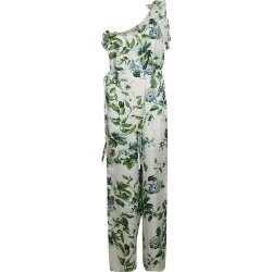 Blumarine Leaf Printed Asymmetric Jumpsuit found on MODAPINS from Italist for USD $787.12
