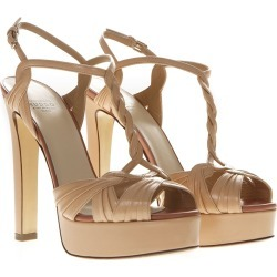 Francesco Russo Nude Metal Strappy Sandals found on MODAPINS from italist.com us for USD $681.13