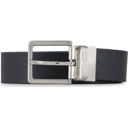 Emporio Armani Navy Blue Leather Belt found on Bargain Bro UK from Italist