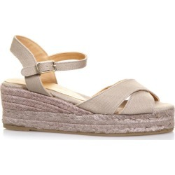 Castañer Beige Crossed Cotton Sandals found on Bargain Bro UK from Italist