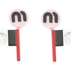 Miu Miu Flag Plex Earrings found on Bargain Bro India from italist.com us for $196.83