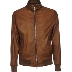 Barba Napoli Zipped Leather Bomber found on MODAPINS from Italist for USD $398.37