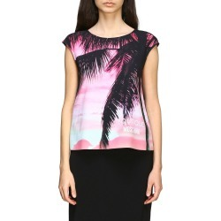 Boutique Moschino T-shirt Boutique Moschino Top With Palm Print found on MODAPINS from Italist for USD $280.98