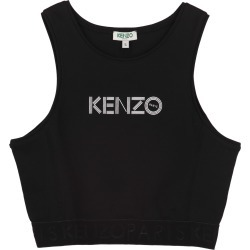 Kenzo Cotton Crop-top With Logo found on Bargain Bro UK from Italist