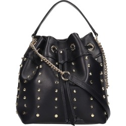 Jimmy Choo Juno -s Shoulder Bag In Black Leather found on Bargain Bro India from Italist Inc. AU/ASIA-PACIFIC for $1552.46