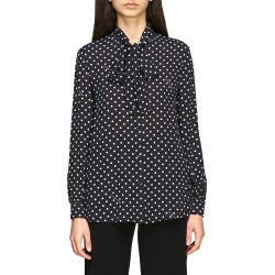 Boutique Moschino Shirt Boutique Moschino Shirt In Polka Dot Crêpe With Bow found on MODAPINS from Italist for USD $404.43