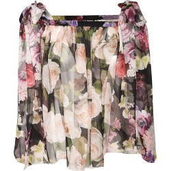 Dolce & Gabbana Rose Print Blouse found on Bargain Bro India from Italist Inc. AU/ASIA-PACIFIC for $509.66