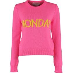 Alberta Ferretti monday Intarsia Rainbow Week Sweater