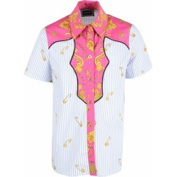 Versace White And Light Girl Shirt With Iconic Medusa