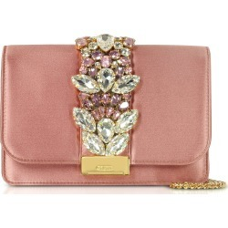 Gedebe Blush Satin Cliky Clutch found on MODAPINS from Italist for USD $724.58