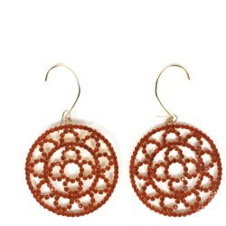 Area Orange Crystal Crochet Earrings found on Bargain Bro India from italist.com us for $288.54