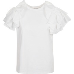Alexander McQueen Ruffled Sleeve Top found on MODAPINS from Italist for USD $360.97