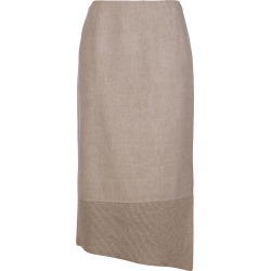 Agnona Beige Cashmere Skirt found on MODAPINS from Italist for USD $1032.08