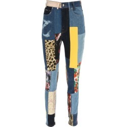Patchwork Denim And Jacquard Jeans found on Bargain Bro UK from Italist