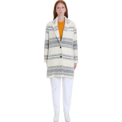Isabel Marant Étoile Dante Coat In Beige Wool
