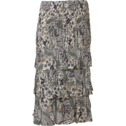 Isabel Marant Étoile Three Ruffle Detail Mid-length Printed Skirt found on Bargain Bro UK from Italist