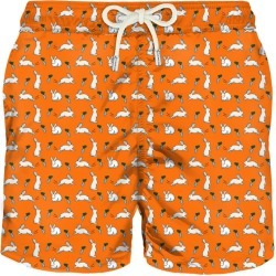 Rabbits And Carrots Light Fabric Swim Shorts