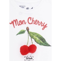 MC2 Saint Barth Cherry Pompon Girls T-shirt found on Bargain Bro from italist.com us for USD $70.51