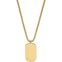 Northskull Id Tag Necklace In Yellow Gold found on Bargain Bro India from italist.com us for $150.22