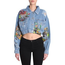 Jeremy Scott Destroyed Denim Jacket found on MODAPINS from Italist for USD $415.72