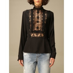 Ermanno Scervino Top Ermanno Scervino Shirt With Lace Inserts found on Bargain Bro from italist.com us for USD $882.69