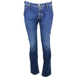 Jacob Cohen Jeans Trousers In Stretch Denim With Natural Indigo America Pockets With Buttons And Stitching In Contrasting Color found on MODAPINS from italist.com us for USD $304.59