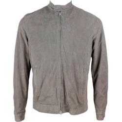 Barba Napoli Suede Biker Jacket With Cotton Jersey Lining And Zip found on MODAPINS from italist.com us for USD $931.70