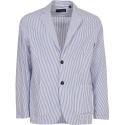 Lardini Blue Cotton Pinestripe Jacket found on MODAPINS from Italist for USD $287.69