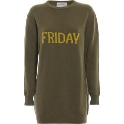 Alberta Ferretti Friday Green Long Crewneck Sweater found on MODAPINS from Italist for USD $429.34