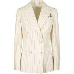 Brunello Cucinelli Blazer Stretch Cotton Pinstripe Poplin Blazer With Monili found on Bargain Bro UK from Italist