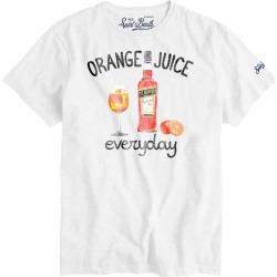 MC2 Saint Barth Orange Everyday Print Man T-shirt found on Bargain Bro from italist.com us for USD $75.42