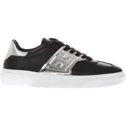 Hogan Black Leather Sneakers With Embossed Logo found on MODAPINS from Italist for USD $244.08