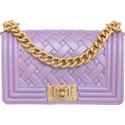 Marc Ellis Flat Braid S Shoulder Bag In Viola Pvc found on MODAPINS from Italist for USD $96.82