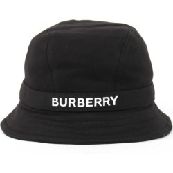 Burberry Black Cotton Hat With Logo found on Bargain Bro UK from Italist