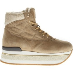 Hogan Maxi H222 Camel Nubuck Sneakers found on MODAPINS from Italist for USD $371.56