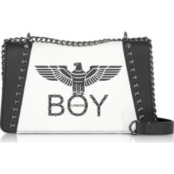 Boy London Black & White Synthetic Leather Shoulder Bag found on MODAPINS from Italist for USD $167.57