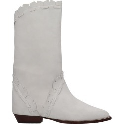 Isabel Marant Sezari Low Heels Ankle Boots In White Suede found on Bargain Bro UK from Italist