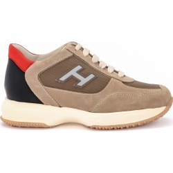 Hogan New Interactive Brown Suede And Fabric Sneaker found on Bargain Bro UK from Italist