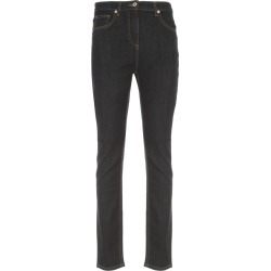 Blumarine Slim High Waisted Jeans W/logo found on MODAPINS from Italist for USD $295.07