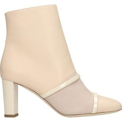 Malone Souliers Dakota Ms 70 High Heels Ankle Boots In Beige Suede And Leather