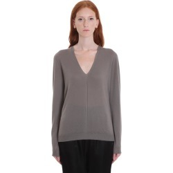 Rick Owens Soft V Neck Knitwear In Drk Dust Wool found on Bargain Bro UK from Italist