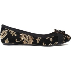 Anna Baiguera Annette Flex Crystal-embellished Embroidered-velvet Ballet Flats found on MODAPINS from Italist for USD $299.44