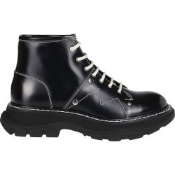 Alexander McQueen Black Leather Tread Boots found on Bargain Bro UK from Italist