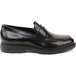 Hogan H304 Black Leather Loafer found on Bargain Bro India from italist.com us for $285.86