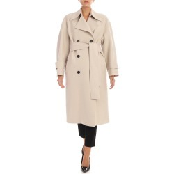 Harris Wharf London - Double-breasted Coat With Fleece Lining found on MODAPINS from Italist for USD $562.20