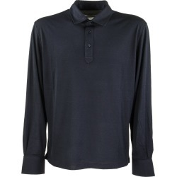 Brunello Cucinelli Silk And Cotton Jersey Long Sleeve Slim Fit Polo With Shirt-style Collar found on Bargain Bro UK from Italist